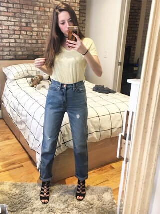 「BDG Embroidered Mom Jean(BDG)」 using this girlwiththebigeyes looks