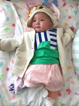 Eri  Saitoさんの「ドット バブルショートパンツ(babyGAP)」を使ったコーディネート