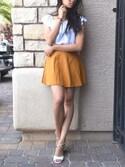 「FOREVER 21 Classic Skater Skirt(Forever 21)」 using this tbui looks
