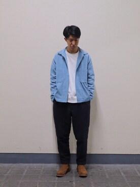 ADAM ET ROPE' 新宿LUMINE2|SAKUMAAさんのTシャツ/カットソー「ビッグシルエットロングスリーブTシャツ(ADAM ET ROPE'|アダム エ ロペ)」を使ったコーディネート