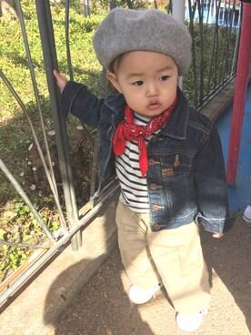 ♡yunyun♡さんの「【親子お揃い】キッズウールベレー帽(CIAOPANIC TYPY チャオパニックティピー)」を使ったコーディネート