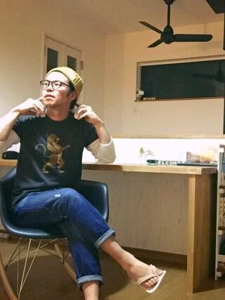 Mt.0344さんの「コットン ジャージー グラフィック Tシャツ(Denim & Supply Ralph Lauren|デニム&サプライ)」を使ったコーディネート