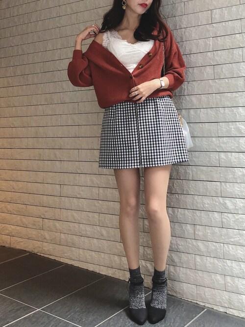 ayakaさんの「ワッフル編みボリューム袖カーディガン(archives)」を使ったコーディネート
