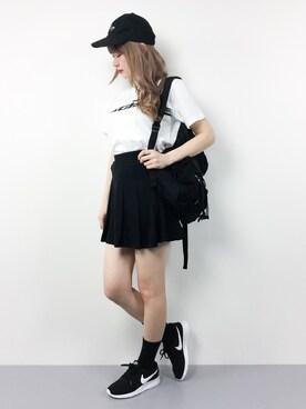 ZOZOTOWN|MAIさんの「SWIFT LOGO S/S TEE(X-girl|エックスガール)」を使ったコーディネート