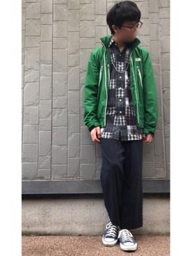 C×ShiraBashiさんの(CONVERSE|コンバース)を使ったコーディネート