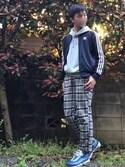 C×ShiraBashiさんの「【adidas】SST TRACK TOP(adidas originals|アディダスオリジナルス)」を使ったコーディネート