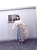 Hirokoさんの「チュールフリルサンダル(merry jenny メリージェニー)」を使ったコーディネート