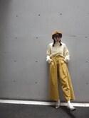 山鹿穂乃香さんの「スピンドルコールワイドパンツ(merry jenny|メリージェニー)」を使ったコーディネート