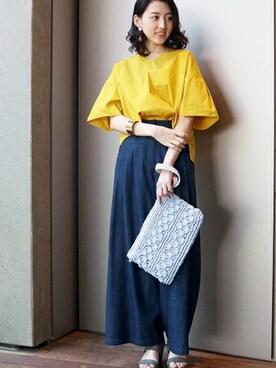 N. Natural Beauty Basic* OFFICE|SIKAさんのシャツ/ブラウス「◆タイプライターバックリボンブラウス(N.(N. Natural Beauty Basic)|エヌ(エヌ ナチュラルビューティーベーシック) )」を使ったコーディネート