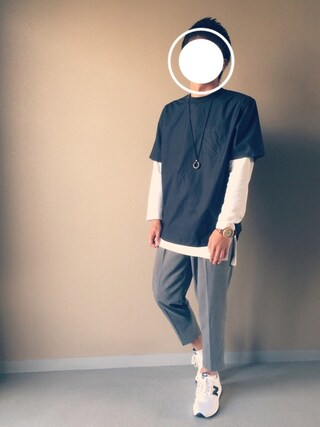 「【着丈の長いレイヤード】コットン製品染めロングTシャツ(JUNRed)」 using this Nao looks