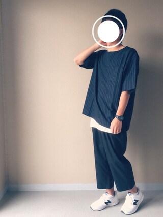 「WEGO/ノーカラープルオーバー7分袖シャツ(WEGO)」 using this Nao looks