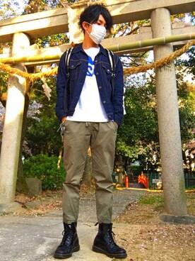 ☠kota☠さんの(BLUE BLUE JAPAN|ブルーブルージャパン)を使ったコーディネート