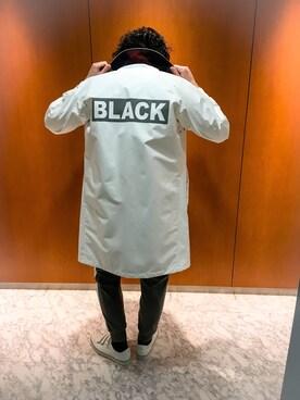 ブルーレーベル/ブラックレーベル・クレストブリッジZOZOTOWN店|HisayukiOguriさんの「シンサレートライナー レインコート(BLACK LABEL CRESTBRIDGE)」を使ったコーディネート