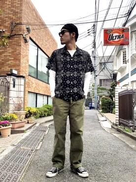 Schott South|KatsumataさんのTシャツ/カットソー「Schott/ショット/ L/S THERMAL TEE/サーマル ロングスリーブティー(schott|ショット)」を使ったコーディネート