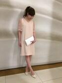 BLISS POINT コレド日本橋店 Womens Staff3さんの「【DRESS】ボリュームフレアスリーブワンピース(BLISS POINT ブリスポイント)」を使ったコーディネート
