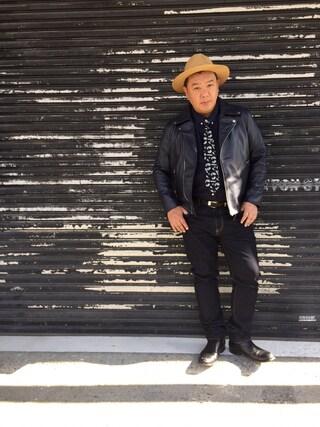 木下隆行さんの「【BUCCA44】ライダースジャケット(BUCCA 44|ブッカフォーティーフォー)」を使ったコーディネート