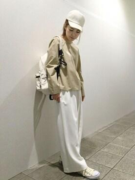 un dix cors阪急三番街店 undixcors_officialさんの「リネン風キャップ(un dix cors)」を使ったコーディネート
