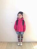 バニージョイ☆さんの「グラスバレーⅡユースレインスーツ(Columbia|コロンビア)」を使ったコーディネート