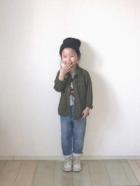 バニージョイ☆さんの「CONVERSE:CHILD ALL STAR RZ OX(CONVERSE|コンバース)」を使ったコーディネート