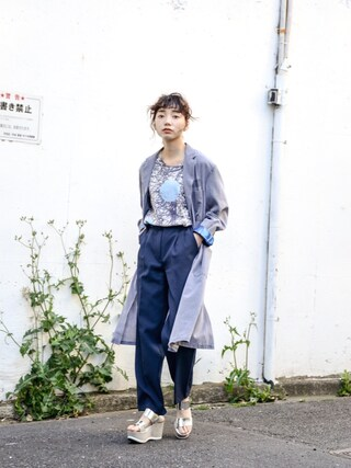 "kodona|仲西さほみさんの「"" TOGA Odds&Ends "" Remake Shop Coat (size - 1) ¥14000+tax【着画あり】(TOGA|トーガ)」を使ったコーディネート"
