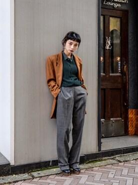 kodona 仲西さほみさんの「USED - Tailored Jacket / Camel ¥13000+tax→¥9100+tax(no brand)」を使ったコーディネート