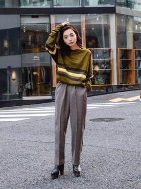 kodona|仲西さほみさんの「USED - Design Long Knit Tops ¥6000+tax(no brand)」を使ったコーディネート