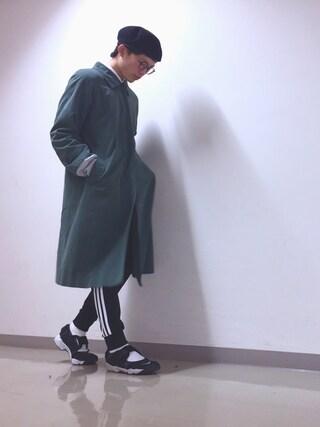 seiya katoさんの「adidas Originals for BEAMS / トラックパンツ(BEAMS|ビームス)」を使ったコーディネート