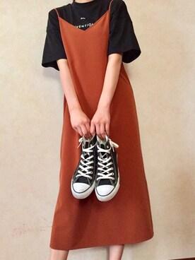 yuukaさんの「ハイネックプリントワイドTシャツ 729319(LEPSIM|シマムラ)」を使ったコーディネート