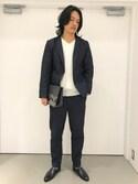BLISS POINT 京都桂川店 Mens Staffさんの「【XL展開】ポケッタブルコンフォートテーラードジャケット/742596(BLISS POINT|ブリスポイント)」を使ったコーディネート