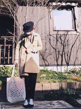 noko→さんの「オリジナルプレートマリンキャップ【niko and ...】(niko and...)」を使ったコーディネート