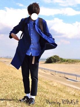 Kentoさんの「【WEB限定】SC★★PE/STRC ステンカラーコート(green label relaxing)」を使ったコーディネート