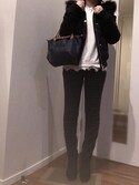 「Longchamp Le Pliage Small Handbag, New Navy(Longchamp)」 using this M looks