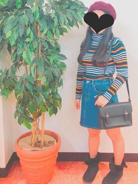 Akaneさんの「WEGO/ベレー帽(WEGO|ウィゴー)」を使ったコーディネート