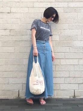 mayu.tさんの「Burnt out Tシャツ(TODAYFUL トゥデイフル)」を使ったコーディネート