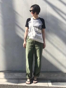 mayu.tさんの「Vintageカーゴパンツ(TODAYFUL|トゥデイフル)」を使ったコーディネート