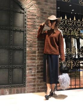GUILD PRIME仙台|HANAさんの「【GUILD PRIME】WOMENS ブラウンタックワイドパンツ(GUILD PRIME)」を使ったコーディネート