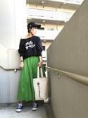 chan-miさんの「ワンショルルーズスウェット(Ungrid)」を使ったコーディネート
