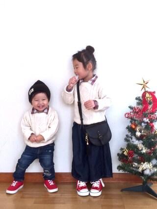 ai☆kaaさんの「キッズ コンバース オールスター ハイカット CONVERSE CHILD ALL STAR RZ HI 325136(CONVERSE コンバース)」を使ったコーディネート