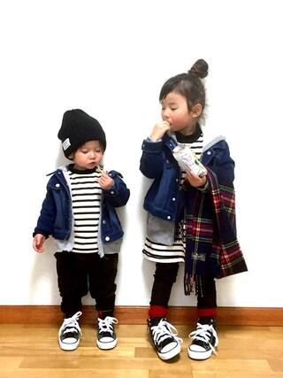 ai☆kaaさんの「Converse CHILD ALL STAR RZ HI(CONVERSE|コンバース)」を使ったコーディネート