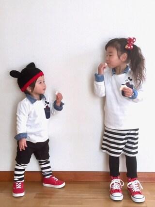 ai☆kaaさんの「キッズ コンバース オールスター ハイカット CONVERSE CHILD ALL STAR RZ HI 325136(CONVERSE|コンバース)」を使ったコーディネート