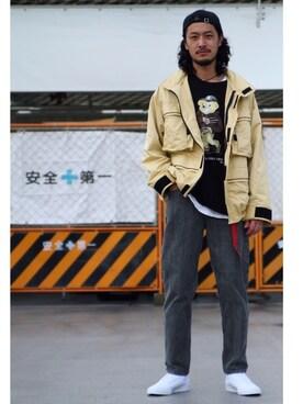 JOURNAL STANDARD relume 表参道店|環王さんのキャップ「MIGHTY SHINE / マイティシャイン:FLATS(JOURNAL STANDARD|ジャーナルスタンダード)」を使ったコーディネート