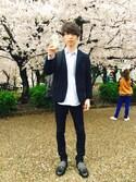 平野ショータさんの「ホームスパン2BJK #(JOURNAL STANDARD|ジャーナルスタンダード)」を使ったコーディネート