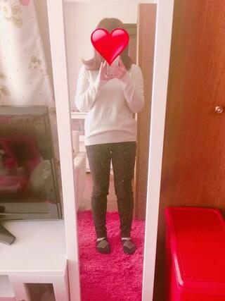 みさきさんの「WOMEN カシミヤVネックセーター(長袖)(ユニクロ ユニクロ)」を使ったコーディネート