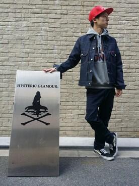 HYSTERIC GLAMOUR大阪店|ひんやりさんさんの(HYSTERIC GLAMOUR|ヒステリックグラマー)を使ったコーディネート