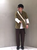 Keisuke Oobaさんの「BY by KANEKO OPTICAL Pod/アイウェア MADE IN JAPAN(KANEKO OPTICAL|カネコオプティカル)」を使ったコーディネート