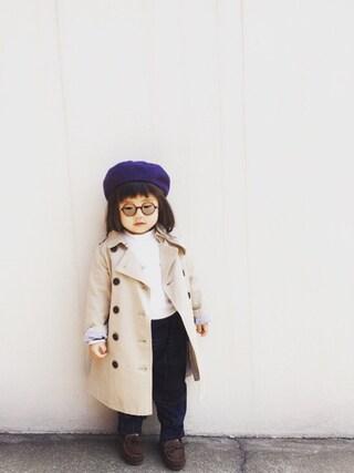 「ベーシックベレー帽(petit main)」 using this kyarin looks