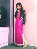 shikiko さんの「PVCスタッズブーツ(LILICIOUS|リリシャス)」を使ったコーディネート