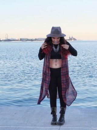 「Roxy Dene Distressed Felt Hat(Free People)」 using this Saba  looks