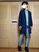 いとうちゃんですさんの「【WEB限定】 STUDIOUS エンブロイダリーカラーNEWブロードシャツ -made in japan-(STUDIOUS|ステュディオス)」を使ったコーディネート