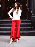 「MILLY Flared Pants(Milly)」 using this Ayesha Sid looks